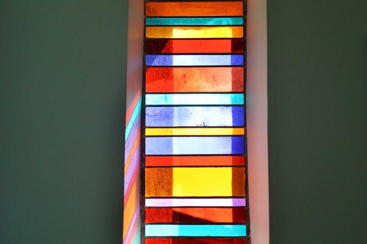 Restauration vitrail contemporain
